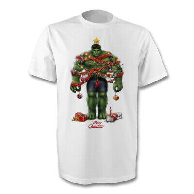 Marvel Incredible Hulk Merry Christmas T-shirt Size's S-xl New • 10.50£