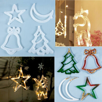 £3.45 • Buy Christmas Tree Hanging Decor Silicone Jewelry Casting Mold Resin Epoxy Mould DIY