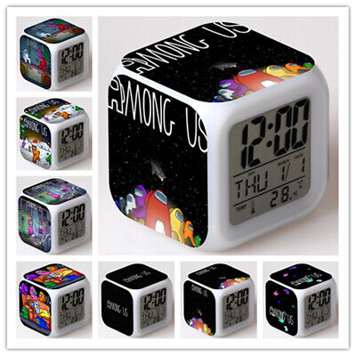 AU18.01 • Buy Among Us Alarm Clock Color Changing LED Night Watch Kids Gift D