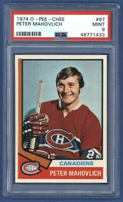 $195.75 • Buy 1974-75 OPC PETE MAHOVLICH #97 PSA 9 MINT Montreal Canadiens 1 Of 6 *One Higher*