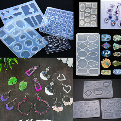 £2.99 • Buy Silicone Earring Pendant Mold Jewelry Resin Mould Kit Casting Craft Making DIY