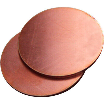£10.83 • Buy 2pcs Solid Copper Discs Blanks Round Plate Sheet Anode Electrode Wall 2mm 200mm