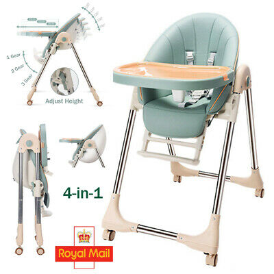 £47.49 • Buy 5 In1 Foldable Baby Kids High Chair Feeding Table Dining Tray Adjustable Booster