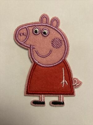 £1.49 • Buy Peppa Pig Patch Sew Iron On 5.3cm X 7cm Approx