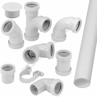 £1.45 • Buy Pushfit Waste Pipe Fittings Connector Bend Branch Clip Socket 32mm 40mm 50mm NEW