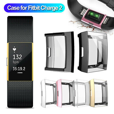 $ CDN5.43 • Buy For Fitbit Charge 2 Bracelet TPU Full Protective Case Cover Screen Protector