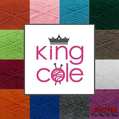 KING COLE DK Knitting Yarn Crochet Acrylic Double Knitting Wool 50g • 1.10£