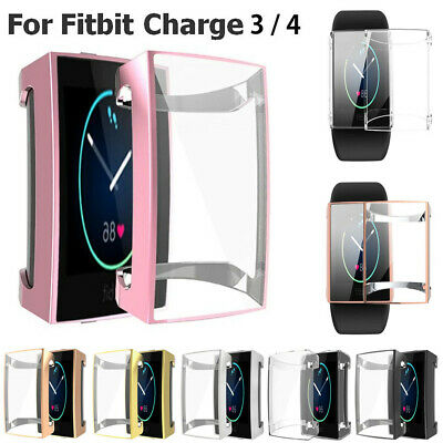$ CDN5.43 • Buy TPU Full Cover Case Screen Protector For Fitbit Charge 4 / Charge 3 / Charge 2