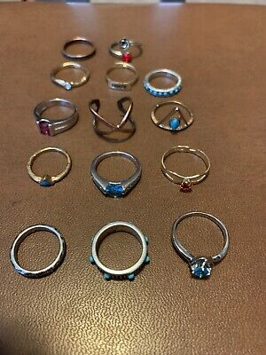 $ CDN39.10 • Buy Vintage  Jewelry Rings Lot Of 14 Ready To Ware