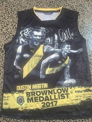 AU395 • Buy DUSTIN MARTIN RICHMOND TIGERS JUMPER Hand Signed Brownlow Norm Smith Premiers