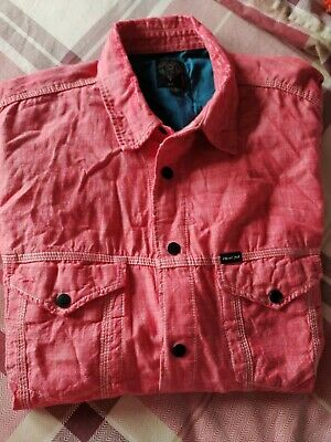 Men's Diesel Pink Denim Shirt Size XL Fitted 100% Cotton Long Sleeve • 27.99£