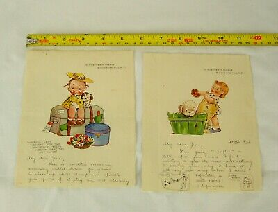 £39 • Buy 1924 Hand Illustrated Pen And Ink Drawings In The Style Of Mabel Lucie Atwell