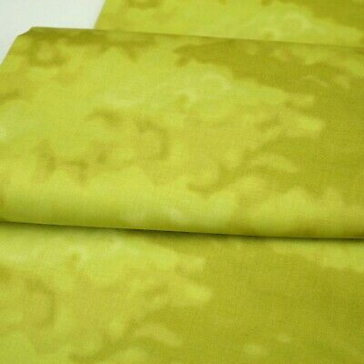 Clothworks Misty Olive Green Back To Basics100% Cotton Quilting Craft Fabric • 6.99£