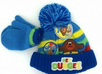 HEY DUGGEE Toddler Bobble Hat & Mit Set Up To 4 Years New With Tags • 6.99£