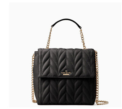 $ CDN190.11 • Buy 🌹NWT Kate Spade Brayden Convertible Backpack Briar Lane Quilted Crossbody Black