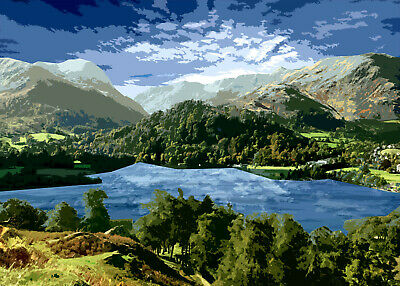 Ullswater Lake District Limited Art Print By Sarah Jane Holt  • 15£