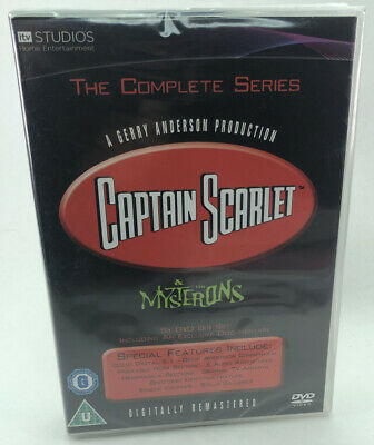 Captain Scarlet And The Mysterons - Complete Series - New & Sealed 6 DVD Boxset • 21.95£