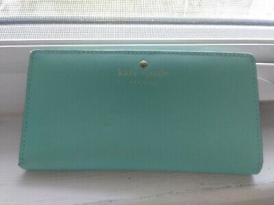 $ CDN22.49 • Buy Authentic Kate Spade Green Bifold Leather Wallet