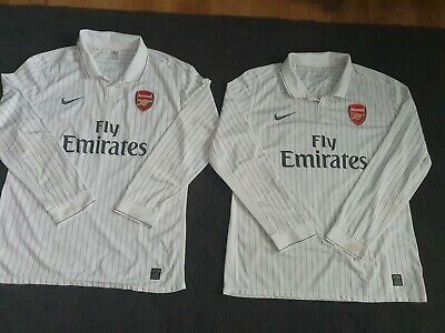 Arsenal FC Season 2009-2010 3rd Player Issue Match Worn LongSleeve Shirt Size XL • 135£
