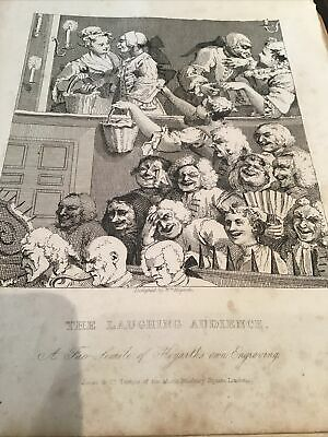 William Hogarth,  1833 Antique Engraving Print - The Laughing Audience - Tgeatre • 10£