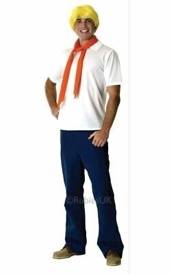 Adult 70s TV Scooby Doo Licensed Fred Mens Halloween Party Fancy Dress Costume • 32.99£