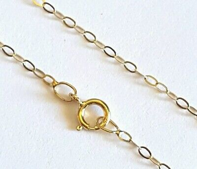 """AU65 • Buy 100% GENUINE Real PURE 9ct 9k 375 Yellow Gold 50cm 20"""" Trace Chain Necklace"""