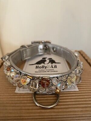 £110 • Buy Holly & Lil Crystal Palace Swarovski Ultimate Bling Dog Collar Size 3 And Lead