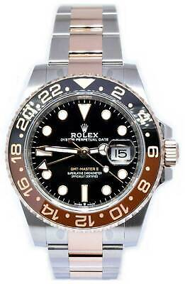 $ CDN25283.67 • Buy Rolex NEW GMT-Master II Root Beer Ceramic 18k Gold Steel Box/Papers 126711CHNR