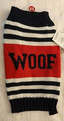 KNIT DOG PUPPY JUMPER SWEATER X Small Pets At Home WOOF DESIGN • 7.99£