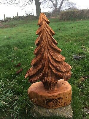 Chainsaw Carving Tree Carved Tree Carvings Hobbit Fairy House Garden • 55£