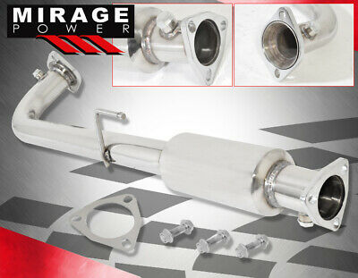 $75.99 • Buy For 01-05 Civic EX Hi-Flow Exhaust Pipe Header Polished Piping + O2 Gasket Bolts