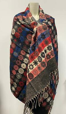 Winter Color Scarf Floral Yak Wool Shawl Blanket Unisex Christmas Gift Warm Soft • 25.99£