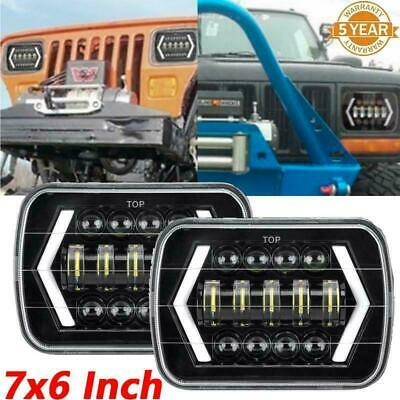 AU118.56 • Buy Pair 7x6  5x7  Inch LED Headlights Rectangle Projector For Toyota Hilux 88-97 AU