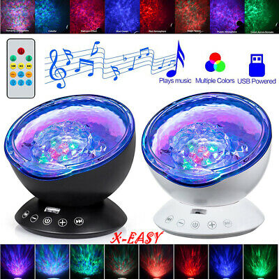 £15.99 • Buy Ocean Wave Spot Lights Projector Remote Control Built-In Music Player 7 Colors