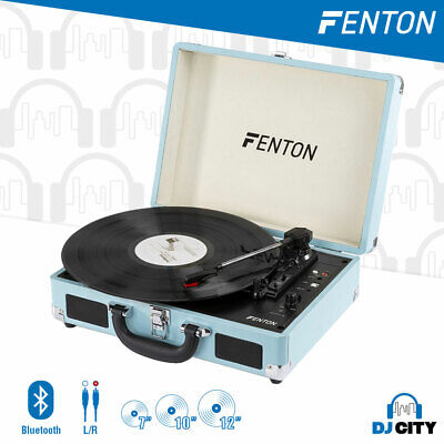 AU78 • Buy Portable Retro Briefcase Vinyl Turntable Record Player With Speakers & Bluetooth