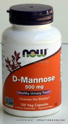 AU42.75 • Buy Now Foods D Mannose 500 Mg 120 Veg Capsules Healthy Urinary Tract Clean Bladder