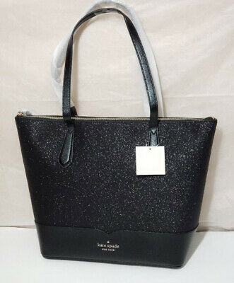 $ CDN116.51 • Buy 🌹NWT Kate Spade Lola Glitter Tote Laptop Shoulder Bag Satchel Black Handbag