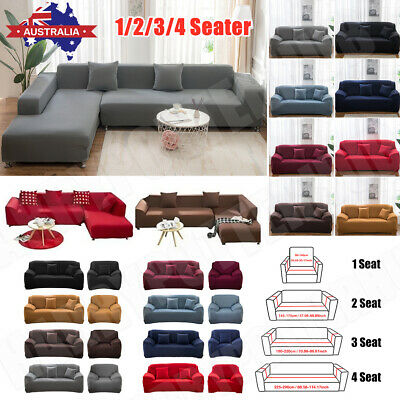 AU25.39 • Buy Sofa Covers 1/2/3/4 Seater Stretch Lounge Slipcover Protector Couch Washable AU
