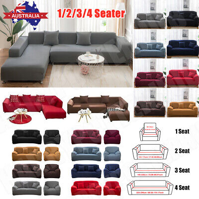 AU23.59 • Buy Sofa Covers 1/2/3/4 Seater Stretch Lounge Slipcover Protector Couch Washable AU