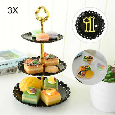 £6.69 • Buy 3 Tier Food Wedding Fruit Party Cake Plate Stand Cupcake Tool Serving Fittings