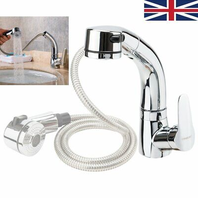£25.99 • Buy Bathroom Taps Mixer Basin Tap Pull Out Chrome Wash Sink Mono Single Lever Modern