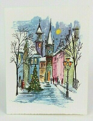 $ CDN15.09 • Buy Alfred Mainzer W Germany Silver Glittered Vintage Christmas Card