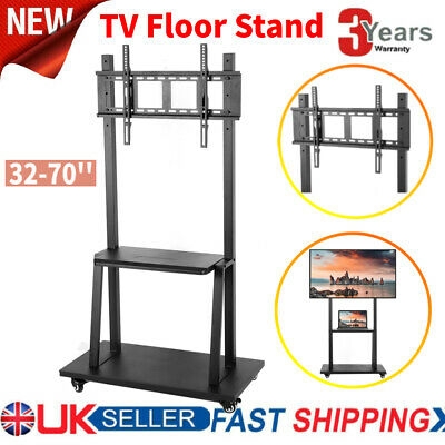 £74.41 • Buy Iron 32 -70  Mobile TV Cart Stand Mount Home Display Trolley For Plasma/LCD/LED