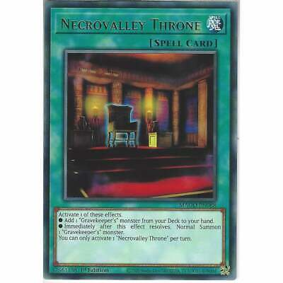 MAGO-EN088 Necrovalley Throne | 1st Edition Rare YuGiOh Trading Card Gold Title • 1£