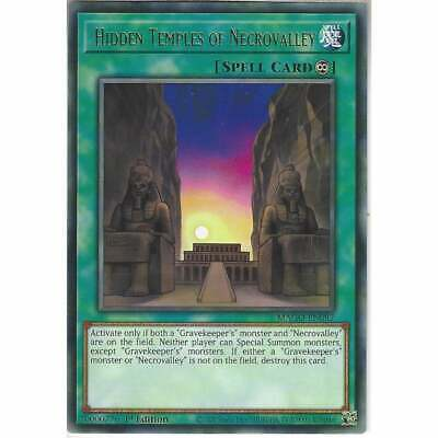 MAGO-EN087 Hidden Temples Of Necrovalley 1st Ed Rare YuGiOh Card Gold Title TCG • 1.35£