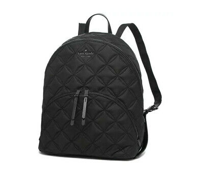 $ CDN141.43 • Buy ❤️NWT Kate Spade Karissa Nylon Quilted Large Backpack Black Gym Laptop Bag