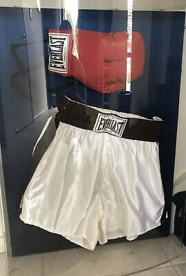 AU599 • Buy Muhammad Ali Signed Boxing Glove And Shorts. In Perspex Case.