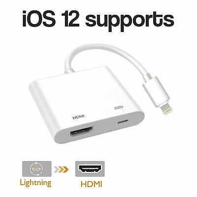 1080P Lightning To Digital AV TV HDMI Cable Adapter For IPad Air Apple IPhone X • 7.99£