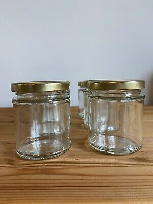 6 X 8oz 190ml Glass Jam Jars With Lids For Pickling, Preserving, Hampers • 5£