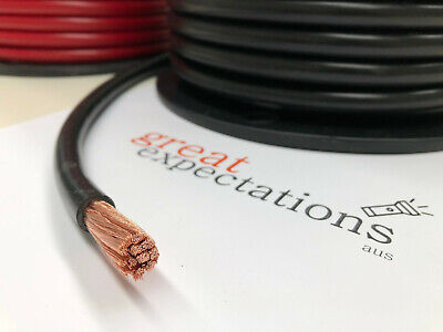 AU33 • Buy 0 Bs B&s Black 100% Copper Battery, 246 Amp Power Cable- Aus Made As/nzs 1125